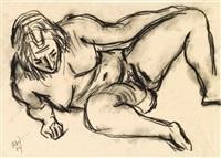 weiblicher akt mit gespreizten beinen by rudolf wacker