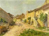 village by alfred pierre joseph jeanmougin