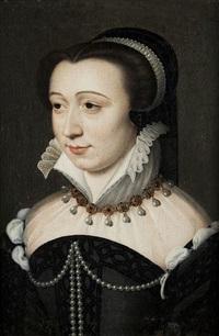 bildnis der anne d'este, duchesse de guise by françois clouet