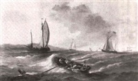 marine: voiliers et barques de peche by th. dubois
