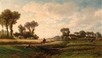 figures in a landscape by adrianus van everdingen