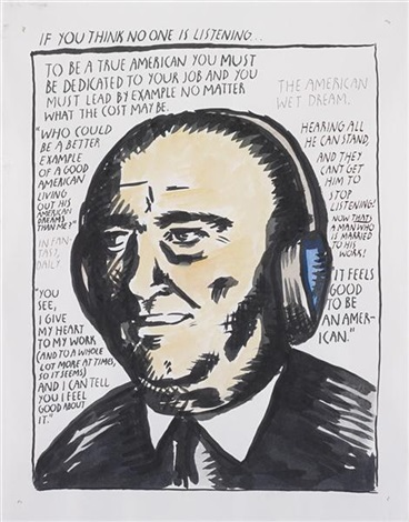 untitled hoover by raymond pettibon