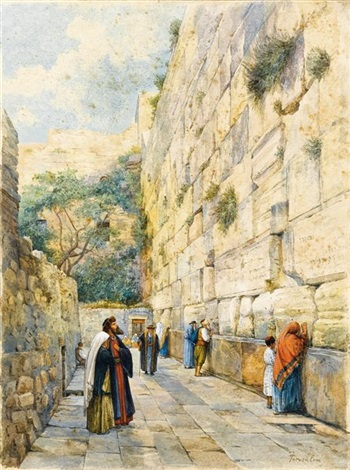 the wailing wall jerusalem by gustav bauernfeind