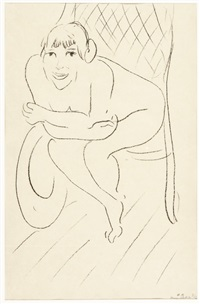 nu au rocking chair by henri matisse