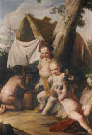 putti by italian school piedmont 19