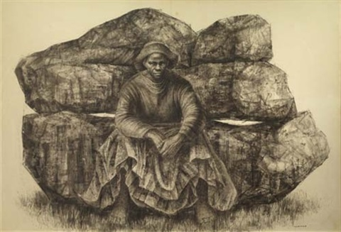 general moses - harriet tubman by charles wilbert white