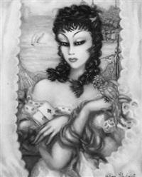 joueuse de cartes by hélène marie marguerite perdriat
