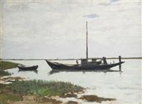 barche sul brenta by leonardo dudreville