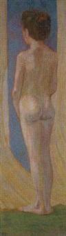 stehender weiblicher akt by leopold blauensteiner