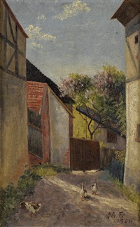 farm on a spring day by frank morley fletcher