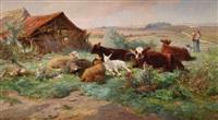 le repos du troupeau by henri arthur bonnefoy