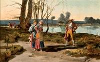 majos junto al lago by angel (monedero) lizcano y esteban