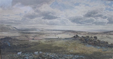 the ochils and lower forth valley from above sterling by samuel bough