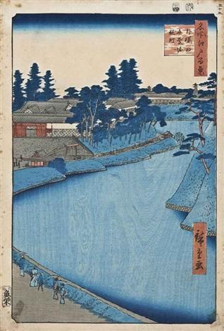 sotosakurada benkeibori kojimachi hiroo furukawa kawaguchi no watachi zenkoji from the series edo meisho hyakkei 2 works oban tate e and yoko e by ando hiroshige