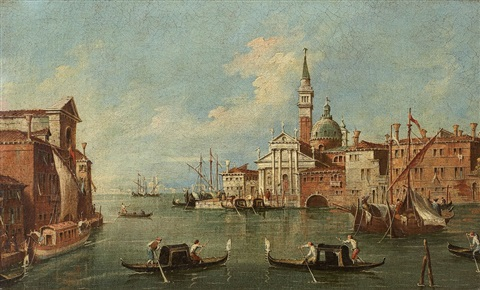 the lagoon of venice with san giorgio maggiore by francesco guardi