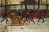 horse-drawn sleigh by julian scott
