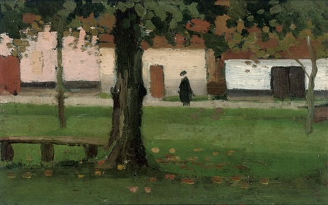 farm buildings france by adolphe valette