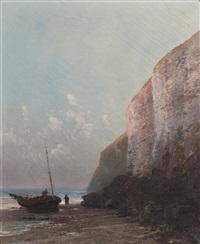 pêcheur sur la grève by alfred godchaux