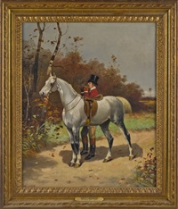 fox hunter and his horse by scott leighton