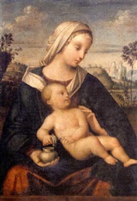 the madonna and child in a landscape by mariotto albertinelli