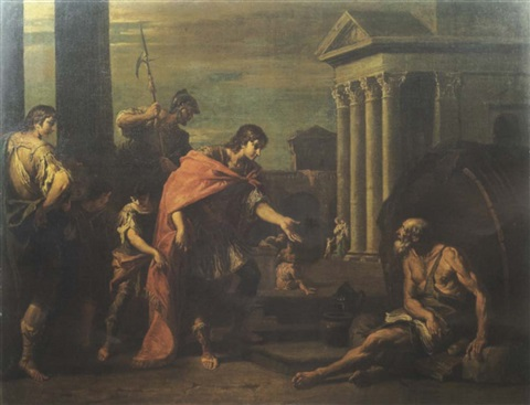 Diogenes Of Sinope And Alexander The Great By Sebastiano