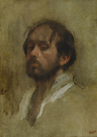 autoportrait by edgar degas