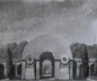 projet pour l'entrée d'un cimetière by louis hippolyte le bas