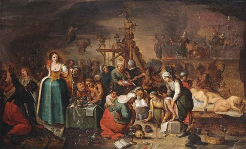 a witches sabbath by frans francken the younger