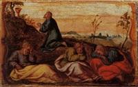 christ washing the disciples' feet by romanino (girolamo romani)