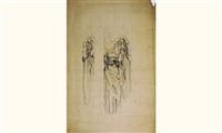l'ange à la colonne (étude) by louis léon eugène billotey