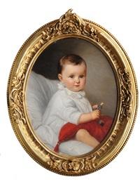 portrait of irma von schönberg as baby by günther friedrich reibisch