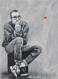 keith haring by jef aerosol