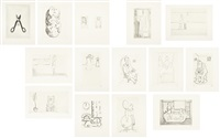 autobiographical series (set of 14) by louise bourgeois