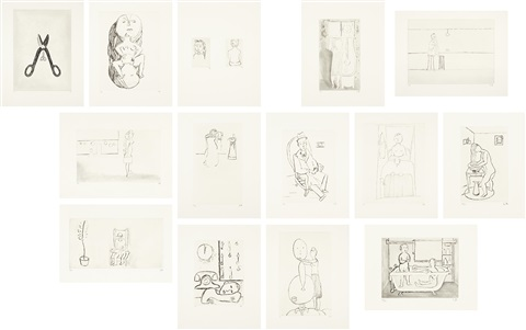 autobiographical series set of 14 by louise bourgeois