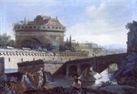 pont sur le tibre près du château saint-ange by francesco caccianiga