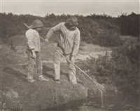 eel-picking in suffolk waters, plate xvii (from pictures of east anglian life) by peter henry emerson