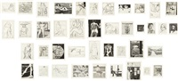 41 etchings drypoints-5 (set of 41 works) by richard diebenkorn