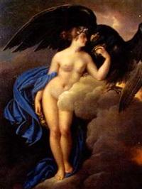 die göttin hebe mit dem adler des zeus by josef abel