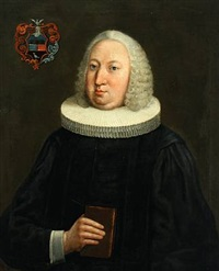 portrait of jacob caspar christian pingel (1720-1782), professor and archdeacon at sorø academy in denmark by carl gustav blumenthal