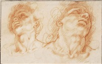 the heads of the sons of laocoön by hendrik goltzius
