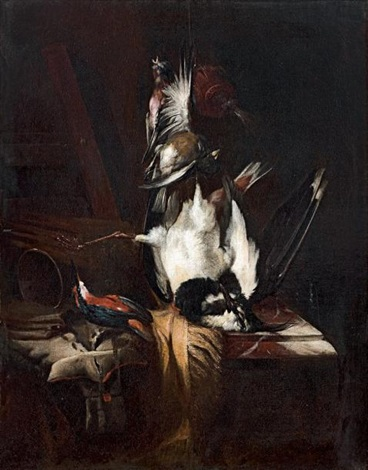 nature morte au trophée de chasse by william gowe ferguson