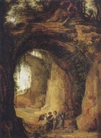 saint-jean baptiste attiré par les anges by joos de momper the elder