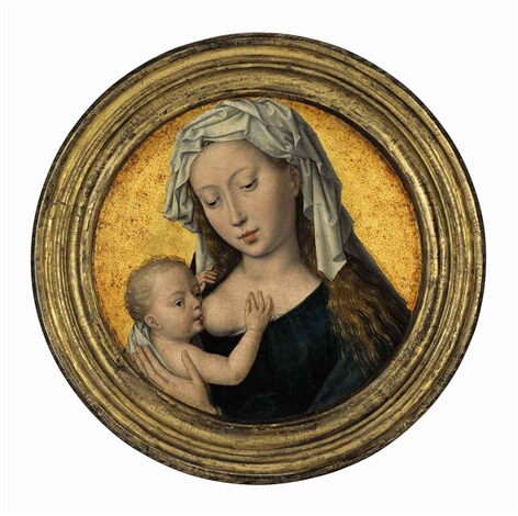 the virgin mary nursing the christ child by hans memling