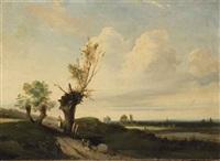 paysage au saule by camille joseph etienne roqueplan
