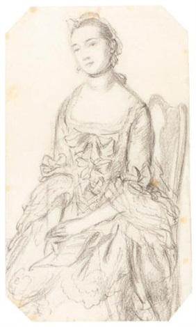 a lady seated holding a letter study by thomas gainsborough