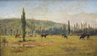 vacas pastando by léon adolphe auguste belly