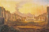 das große forum mit dem herkulestempel zu pompeji by jacob jacobson