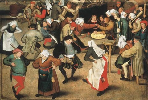 The Wedding Dance In Barn By Pieter Brueghel Younger