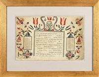 taufschein for nicolaus dieffenbucher by martin brechall