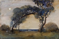 moonlit beach by archibald bertram webb